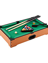 cheap -20-Inch TableTop Miniature Billiard Game Set, Includes Game Balls, Sticks, Chalk, Brush and Triangle-Portable and Fun for the Whole Family