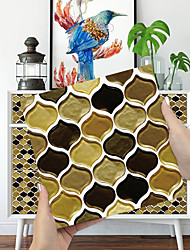 cheap -Imitation Epoxy Tile Sticker Chocolate Color Lantern Wall Sticker House Renovation Diy Self-adhesive Pvc Wallpaper Painting Kitchen Waterproof And Oilproof Wall Sticker