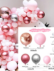 cheap -109pcs Macaron Candy Colored Balloon,Party Decorations Set Combined Balloons,Pink Golden Silver White Latex Balloon for Birthday Party Wedding Ceremony Decoration