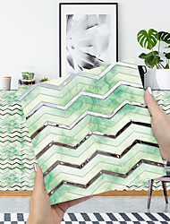 cheap -Imitation Epoxy Tile Sticker Platinum Water Wave Mosaic Wall Sticker House Renovation Diy Self-adhesive Pvc Wallpaper Painting Kitchen Waterproof And Oilproof Wall Sticker