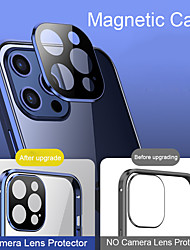 cheap -Coque 360 Magnetic Adsorption Case For iPhone 12 Mini 12 Pro MAX 11 Pro Case Metal Bumper Tempered Glass Cover Camera Lens Protector Film Clear Full Body Protection Mobile Phone Case