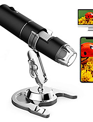 cheap -Wireless Digital Microscope, 50X to 1000X Magnification Handheld USB Electronic Endoscope Magnifier with 8 Adjustable LED Lights 1080P FHD Pocket Zoom Camera with Android, iPhone, Tablet, Windows, Mac