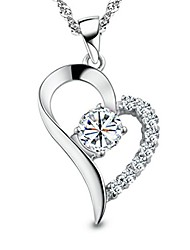 cheap -you are the only one in my heart sterling silver pendant necklace