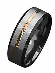 cheap -wpop59ne ring, fashion men matte stripe titanium steel band ring wedding party jewelry gift us 12