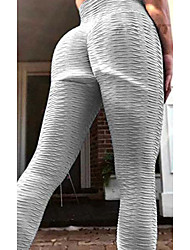 cheap -Women's Plus Size Solid Color Sporty Yoga Ankle-Length Leggings White