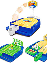 cheap -Sports Games Set (3 in 1) Mini Desktop Table Basketball Game Bowling Game Football GameFun Desktop Sports ToySuitable for TravelParties.