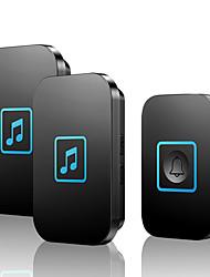 cheap -KONLEN A86 Wireless One to Two Doorbell Music Non-visual doorbell / Waterproof / Sound adjustable Surface Mounted Doorbell