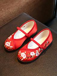 cheap -Boys' Girls' Flats Espadrilles Cotton Little Kids(4-7ys) Big Kids(7years +) Daily Walking Shoes White Red Blue Fall