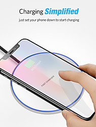 cheap -10W Fast Wireless Charger USB Charger Universal Qi 5A 5V Quick Charging Wireless Charger Pad for iPhone 12 11 Pro Max Samsung S21 S20 Oneplus 9 Huawei Xiaomi Redmi Smartphone Devices Wireless Charger