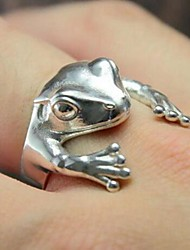 cheap -Open Cuff Ring Silver Alloy Animal Cartoon 1pc Adjustable