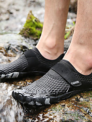 cheap -Men's Loafers & Slip-Ons Casual Outdoor Upstream Shoes Mesh Breathable Non-slipping Wear Proof Black Army Green Dark Blue Summer
