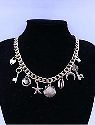 cheap -Women's Necklace Alloy Gold 46 cm Necklace Jewelry For