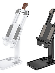 cheap -hoco Pocket Portable Phone Holder for iPhone Samsung Huawei Xiaomi Mobile Phone Stand Desk Mount Stand Holder Adjustable Stand Buckle Type / Adjustable Stand Aluminum Alloy / ABS