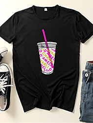 cheap -Inspired by Charli D'Amelio Charli D'Amelio Cosplay Costume T-shirt Polyester / Cotton Blend Graphic Prints Printing Harajuku Graphic T-shirt For Women's / Men's