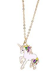 cheap -Women's Pendant Necklace Chain Necklace Unicorn Alloy White Purple 40 cm Necklace Jewelry 1pc For / Chains