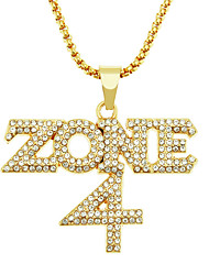 cheap -Men's Long Necklace Trendy Alloy Gold 75 cm Necklace Jewelry For Festival