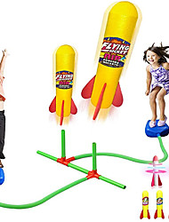 cheap -Dueling Rocket Launcher for Kids with 2 LED & 4 Foam Rockets - Outdoor Games Activities Rocket Toy Gift for Boys & Girls Ages 3 4 5 6 and Up - Great for Outside Play in The Backyard and Parks