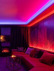 cheap -LED Strip Lights Waterproof 20M RGB Tiktok Lights 1200LEDs Flexible Color Change 2835 with 24 Keys IR Remote Controller and 100-240V Adapter for Home Bedroom TV Back Lights DIY Decor