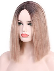 cheap -Synthetic Wig Natural Straight Middle Part Wig Short A10 A11 A12 A13 A1 Synthetic Hair Women's Cosplay Party Fashion Blonde Brown