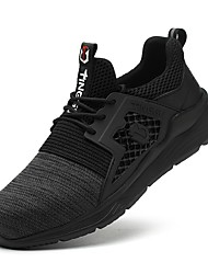 cheap -Steel Toe Cap Safety Shoes Men's Sneakers Fly Knit Breathable Wear Proof Black Grey Light Brown Spring Summer