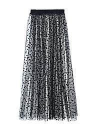 cheap -Women's Street Daily Streetwear Skirts Polka Dot Black