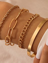 cheap -Women's Chain Bracelet Thick Chain Love Stylish Alloy Bracelet Jewelry Gold For Party Evening