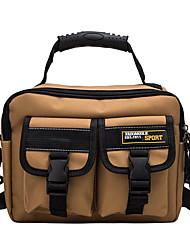cheap -Unisex Bags Canvas Crossbody Bag Zipper Plain Daily 2021 Canvas Bag Handbags Black Khaki