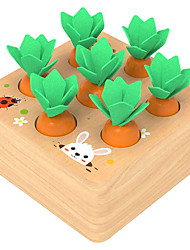 cheap -8 pcs Board Game Educational Toy Wooden Creative Flower family game Parent-Child Interaction Family Interaction Kids Preschool Boys and Girls Toys Gifts