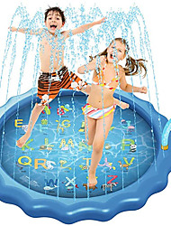"""cheap -3-in-1 Sprinkler for Kids, Splash Pad, and Wading Pool for Learning – Children's Sprinkler Pool, 68'' Inflatable Water Toys – """"from A to Z"""" Outdoor Swimming Pool for Babies and Toddlers"""