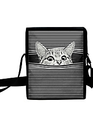cheap -Unisex Kids Bags Oxford Cloth Crossbody Bag 3D Print Cat Animal Daily Traveling Outdoor 2021 MessengerBag Dark Brown Black / White Red Brown Blue