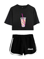 cheap -Kids Girls' Clothing Set 2pcs Casual Active Cartoon Set