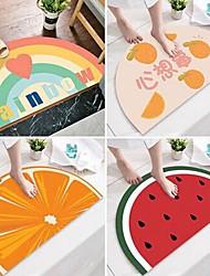 cheap -Bath Mats Orange Creative Absorbent Bathroom Rug Acetate Non Slip