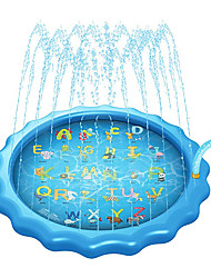 """cheap -68"""" Splash Pad for Toddlers, Thickened Sprinkler Pad for Kids, Summer Outdoor Water Toys Fountain Play Mat for 1 - 12 Years Old Children Boys Girls"""