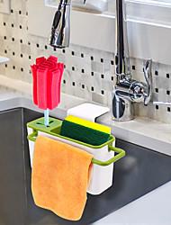 cheap -Kitchen Brush Sponge Sink Draining Towel Washing Holder with Suction Cup Utensils Dry Racks
