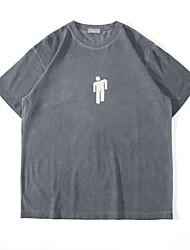 cheap -Men's Unisex T shirt Hot Stamping Graphic Prints Portrait Plus Size Print Short Sleeve Casual Tops 100% Cotton Basic Casual Fashion Gray