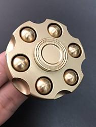 cheap -novel fidget copper finger toy brass alloy hand fingertip gyro spinner