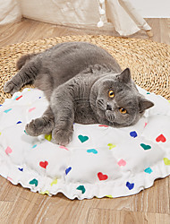 cheap -Dog Cat Pets Cat Beds Dog Bed Mat Pet Sleeping Nest Heart Pumpkin Shaped Portable Foldable Washable Dual-use Mat Nylon for Large Medium Small Dogs and Cats