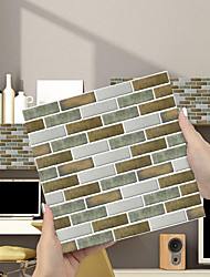 cheap -Imitation Epoxy Tile Sticker Blue Brown Mosaic Wall Sticker House Renovation Diy Self-adhesive Pvc Wallpaper Painting Kitchen Waterproof And Oilproof Wall Sticker
