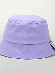 cheap -1pcs Kids Unisex Basic Birthday / Casual / School Solid Colored Stylish Cotton Hats & Caps White / Black / Purple S