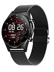 cheap -E13 E13 Sports Smart Watch Bracelet with Blood Oxygen Pressure Monitoring Step Count Health Detection Silicon with Steel Watch Band