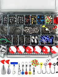 cheap -268 pcs Fishing Hooks Fishing Snaps & Swivels Fishing Beads Fishing Line Sinker Slides Plastic Metal Easy to Carry Easy to Use Sea Fishing Other