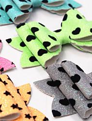 cheap -european and american children's bow hairpin, fluorescent glitter, glitter girl headdress, hairpin, bangs clip side clip manufacturer
