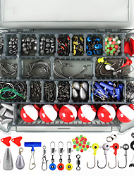 cheap -228 pcs Fishing Hooks Fishing Snaps & Swivels Fishing Beads Fishing Line Sinker Slides Plastic Metal Easy to Carry Easy to Use Sea Fishing Other