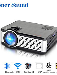 cheap -Poner Saund W5 Mini Projector LED Projector 150 lm Android6.0 WIFI Projector