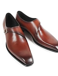 cheap -Men's Wedding Shoes Oxfords Office / Career Dress PU Synthetics Black Brown Fall Spring