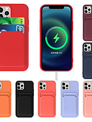 cheap -Silicone Phone Case For Apple iPhone 12 11 SE2020 Shockproof Protective Case Card Holder Cover for iPhone 12 Pro Max XR XS Max iPhone 8 7
