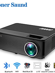 cheap -Poner Saund M6 Projector Wifi Projector Android 4k Full Hd LED Projector for Smartphone Mini Portable Projector Bluetooth for Movie Smart Home