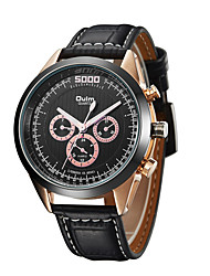 cheap -Oulm Men's Sport Watch Analog Quartz Casual Calendar / date / day Large Dial Day Date / One Year / Genuine Leather