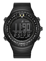 cheap -WLISTH Men's Digital Watch Analog Digital Sporty Big Face Water Resistant / Waterproof Chronograph Luminous / One Year / Silicone