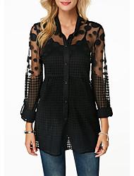 cheap -Women's N / A N / A Daily Wear Polyester Coat Tops